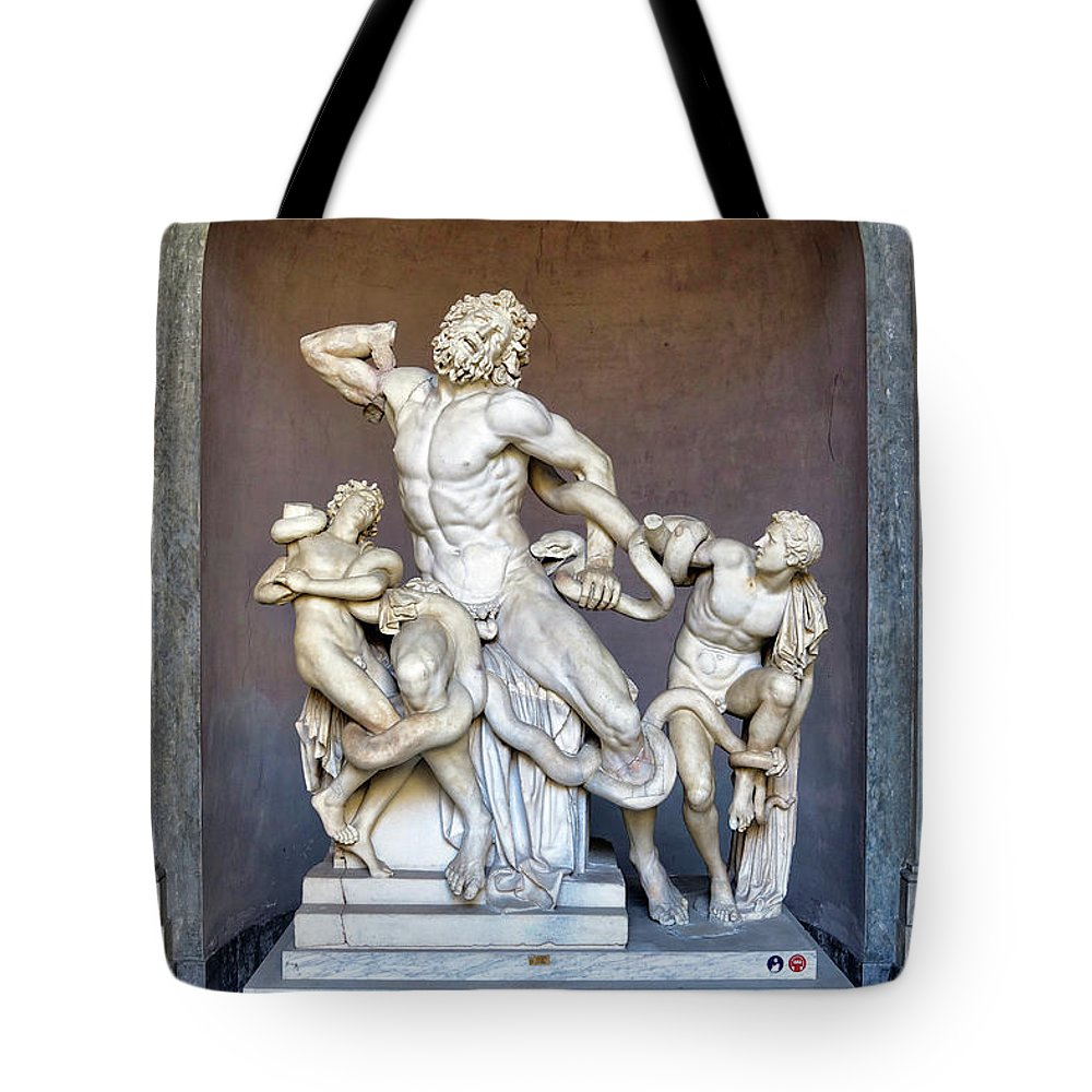 Vatican Tote Bag featuring the photograph The Statue Of Laocoon And His Sons At The Vatican Museum by Richard Rosenshein