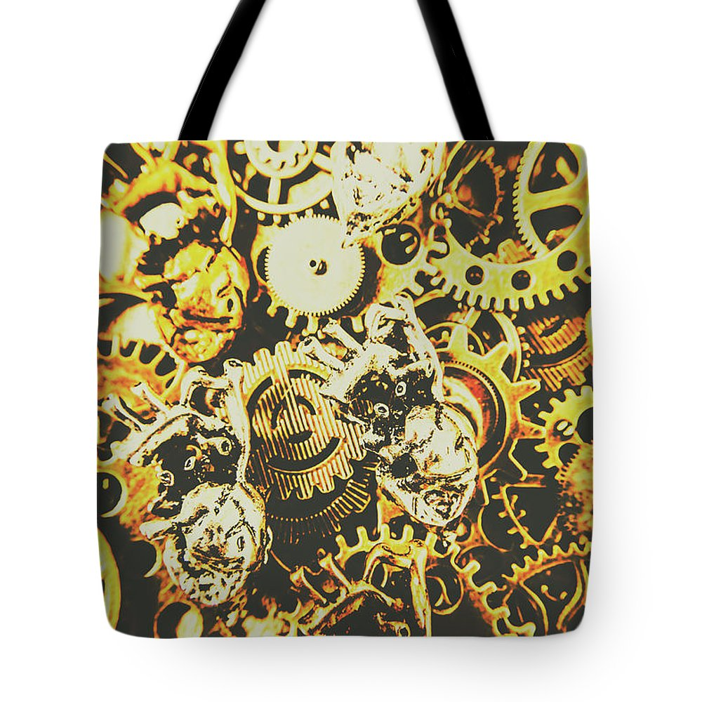 Design Tote Bag featuring the photograph The Steampunk Heart Design by Jorgo Photography - Wall Art Gallery