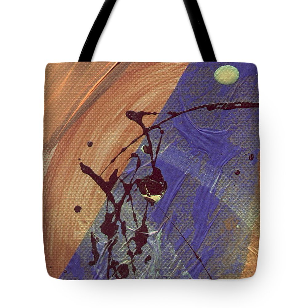 Abstract Tote Bag featuring the mixed media The Storm Is Still Passing 2 by Angela L Walker