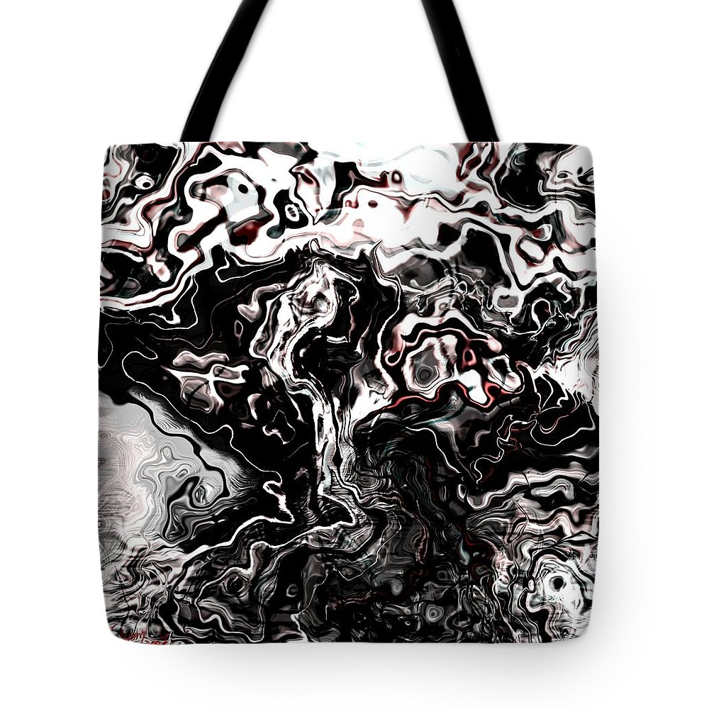 Storm Wind Clouds Nature Wind Tote Bag featuring the digital art The Storm by Veronica Jackson