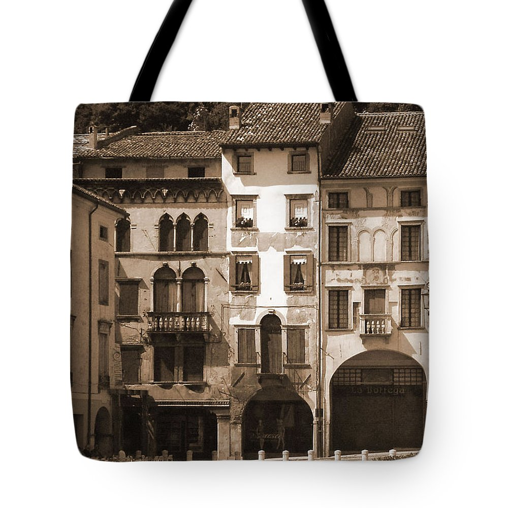Landscape Tote Bag featuring the photograph The Streets Of Vittorio Veneto by Donna Corless