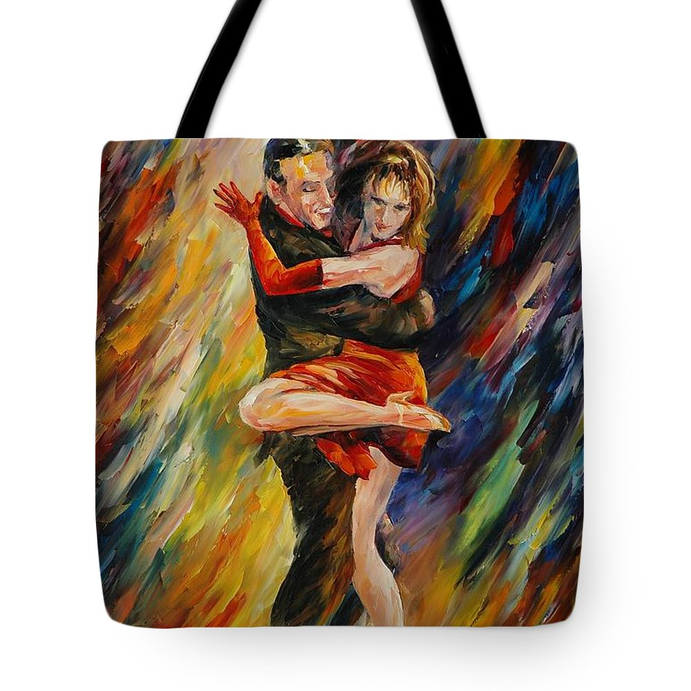 Dance Tote Bag featuring the painting The Sublime Tango by Leonid Afremov