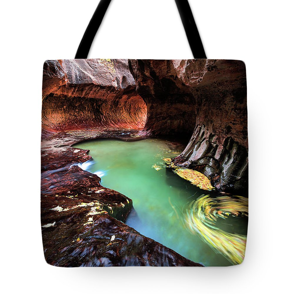 Amaizing Tote Bag featuring the photograph The Subway Swirls by Edgars Erglis
