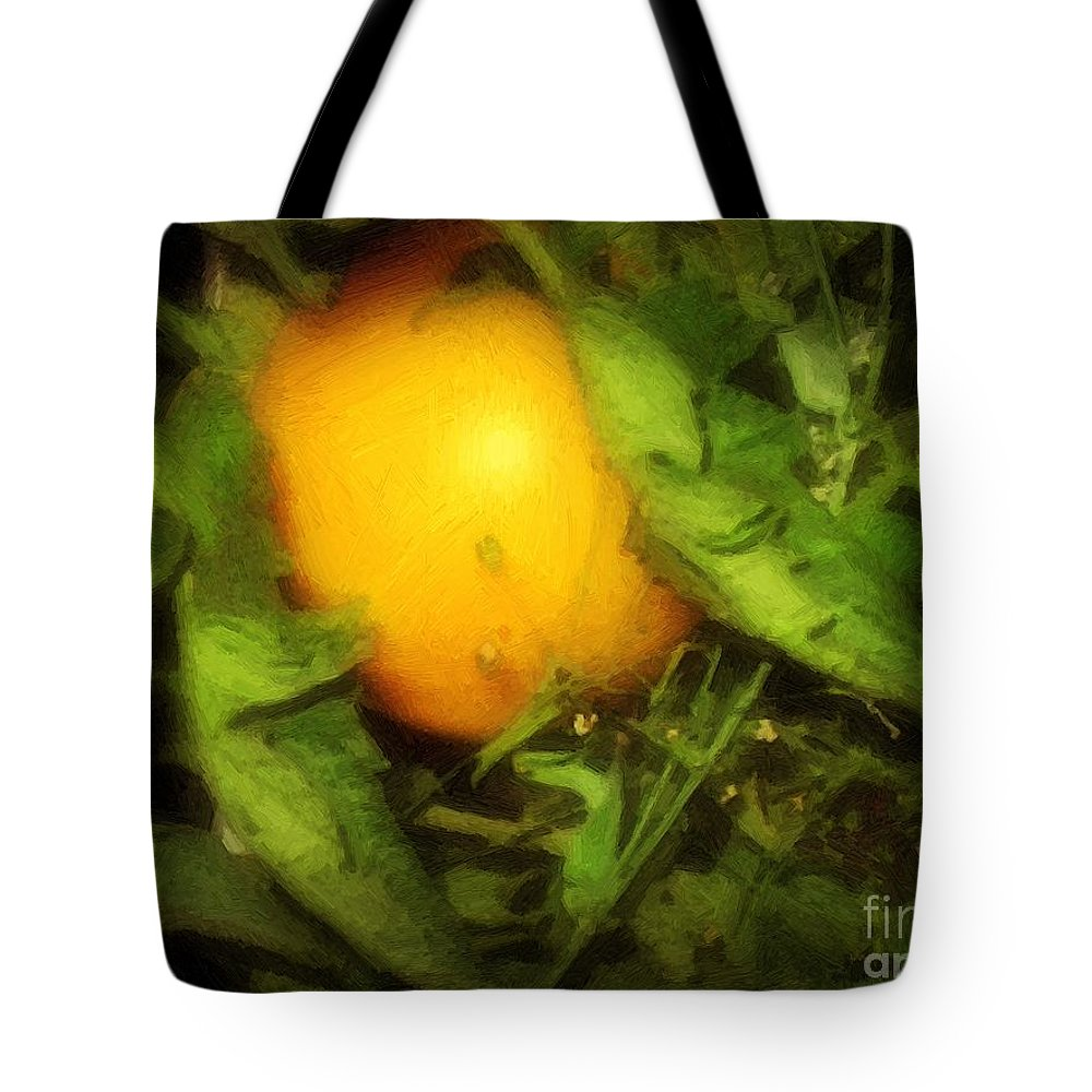Garden Tote Bag featuring the painting The Sun Is Sleeping In The Garden by RC DeWinter