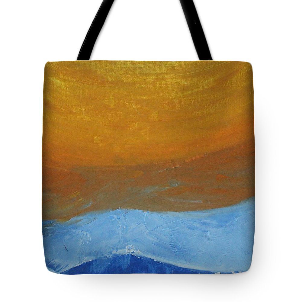 Sun Tote Bag featuring the painting The Sun by Sonye Locksmith
