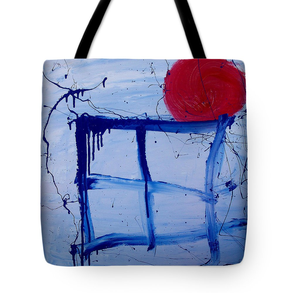 Sun Tote Bag featuring the painting The Sun Through My Window by Wayne Potrafka