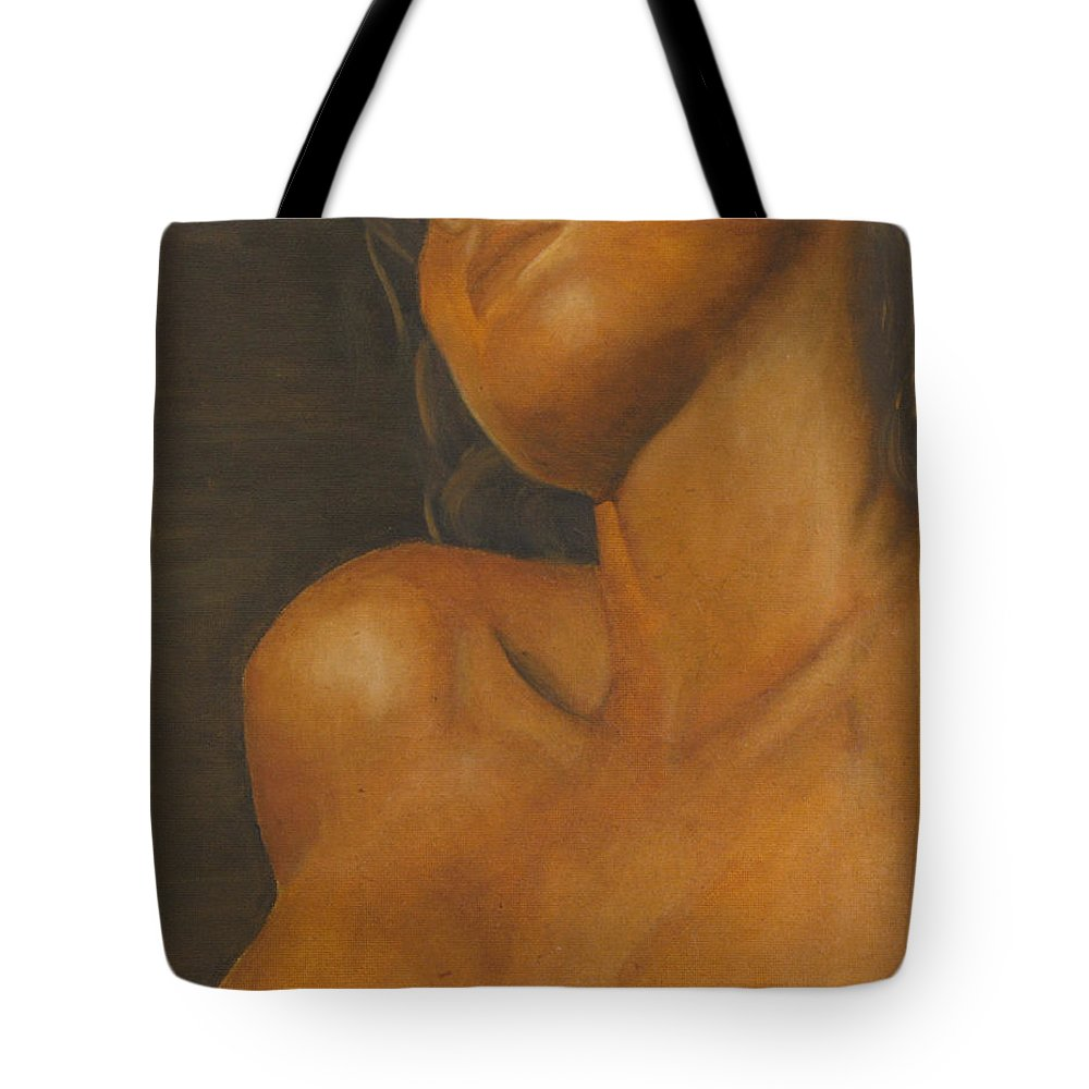 Woman Tote Bag featuring the painting The Sun Will Set For You by Dana DiPasquale