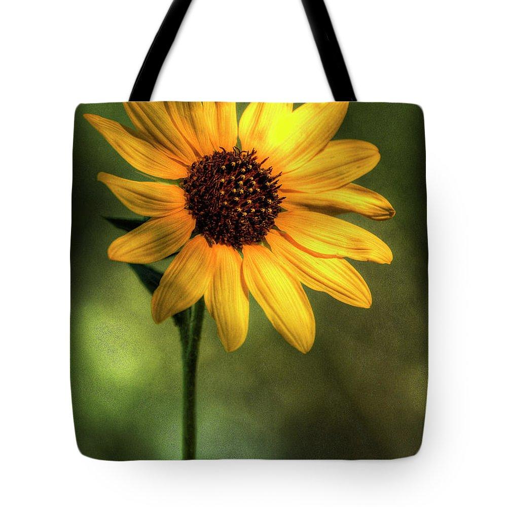 Yellow Sunflower Tote Bag featuring the photograph The Sunflower by Saija Lehtonen