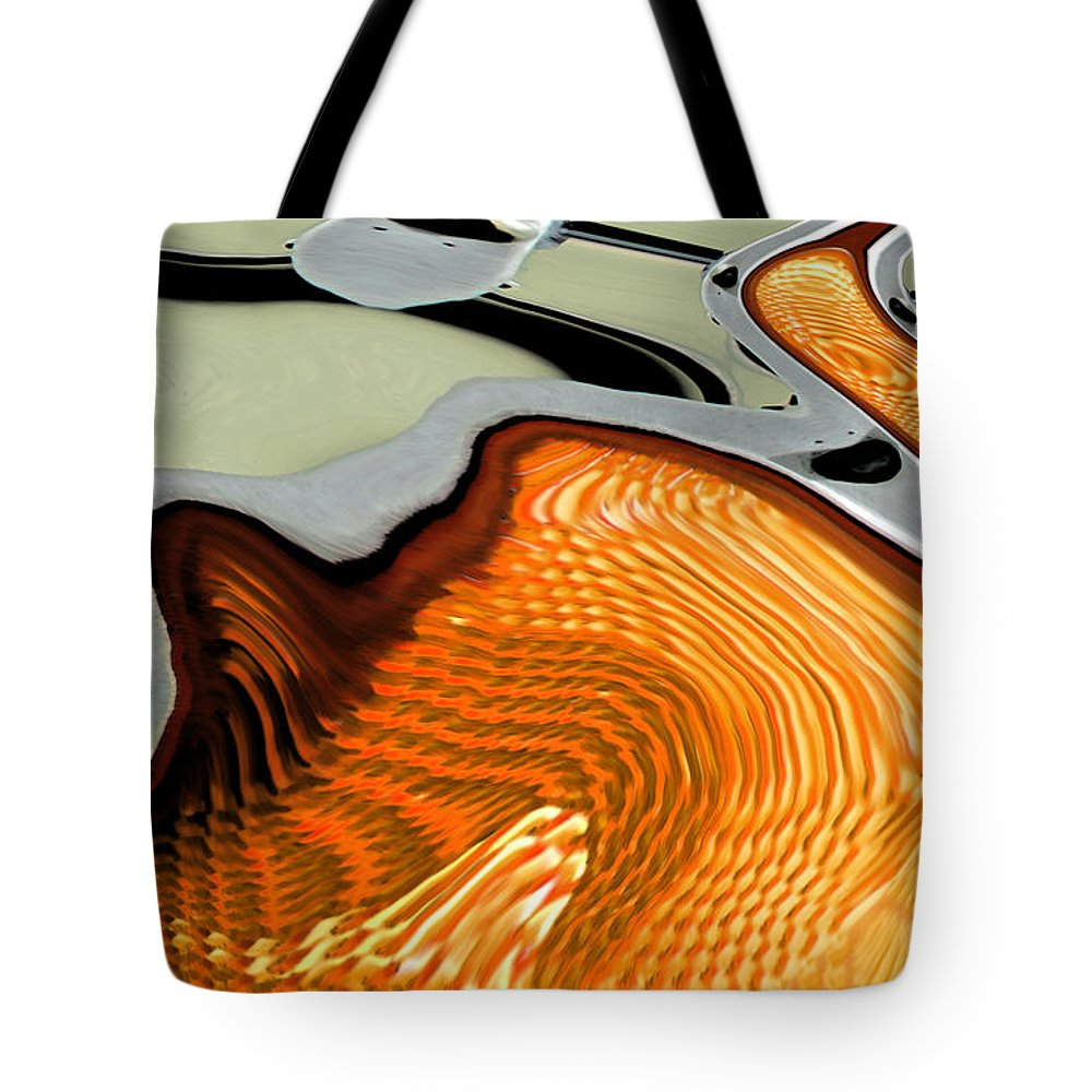 Abstract Tote Bag featuring the digital art The Swan by Lenore Senior