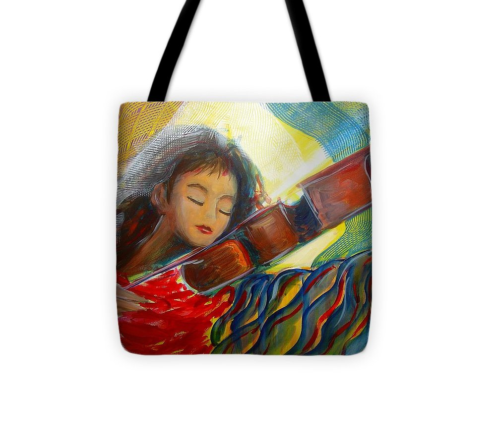 Violin Tote Bag featuring the painting The Sweetest Sounds by Regina Walsh