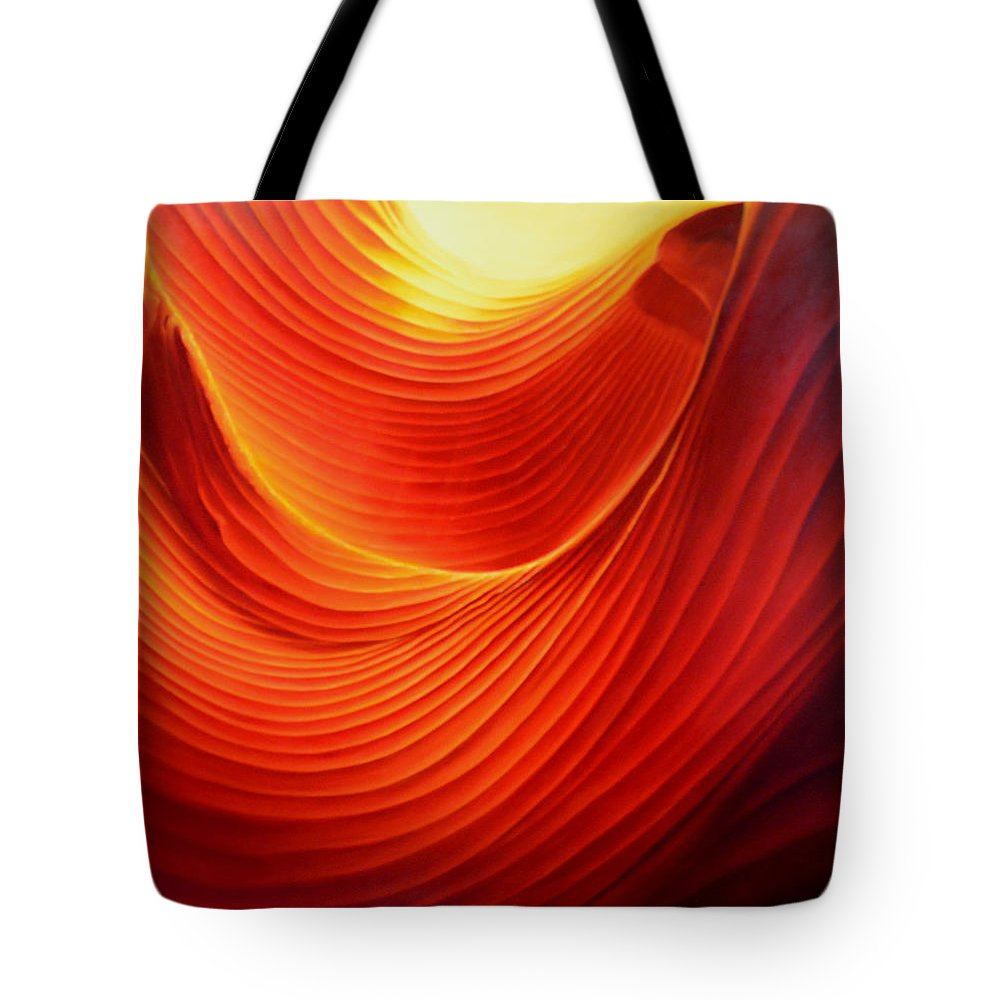 Antelope Canyon Tote Bag featuring the painting The Swirl by Anni Adkins