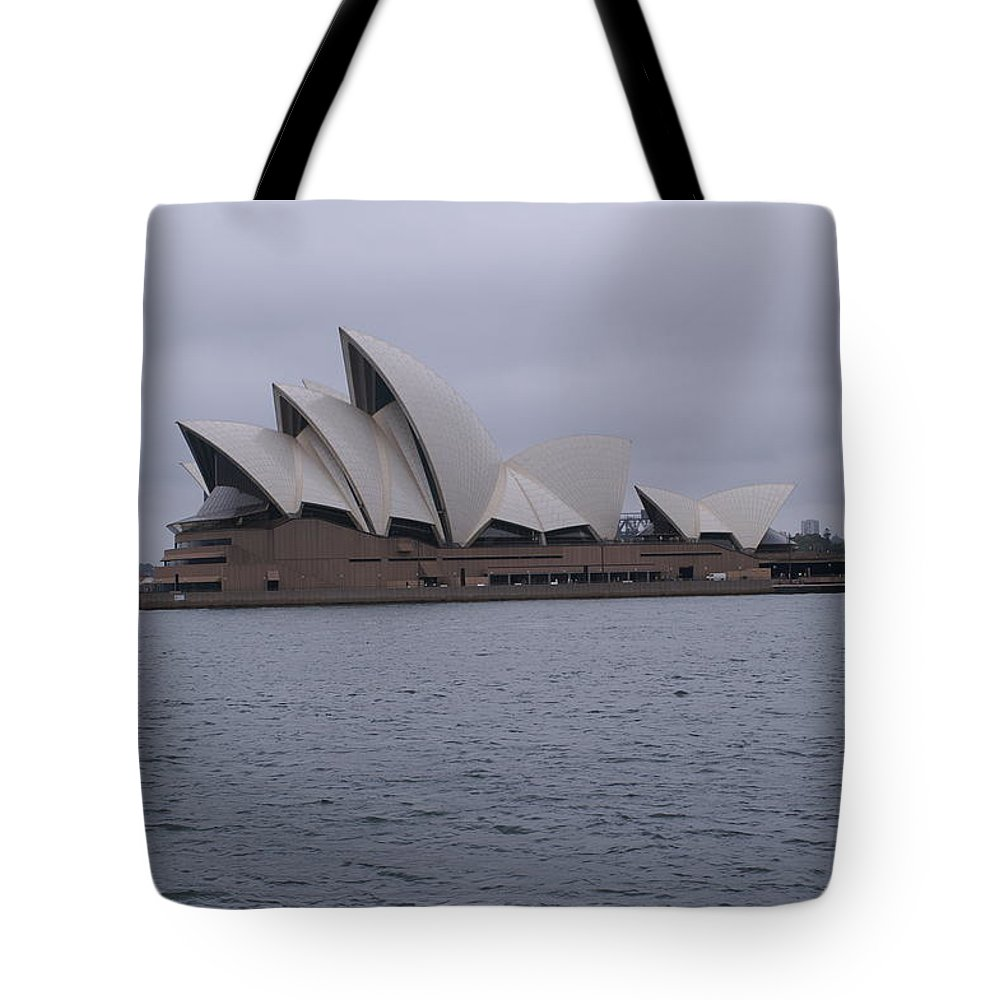 Photo Tote Bag featuring the pyrography The Sydney Opera House by Brian Leverton
