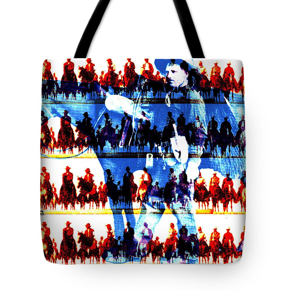 Cowboys Tote Bag featuring the digital art The Tenderfoot by Seth Weaver