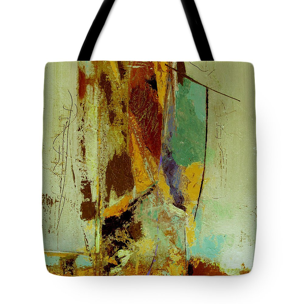 Abstract Tote Bag featuring the painting The Testimony by Ruth Palmer