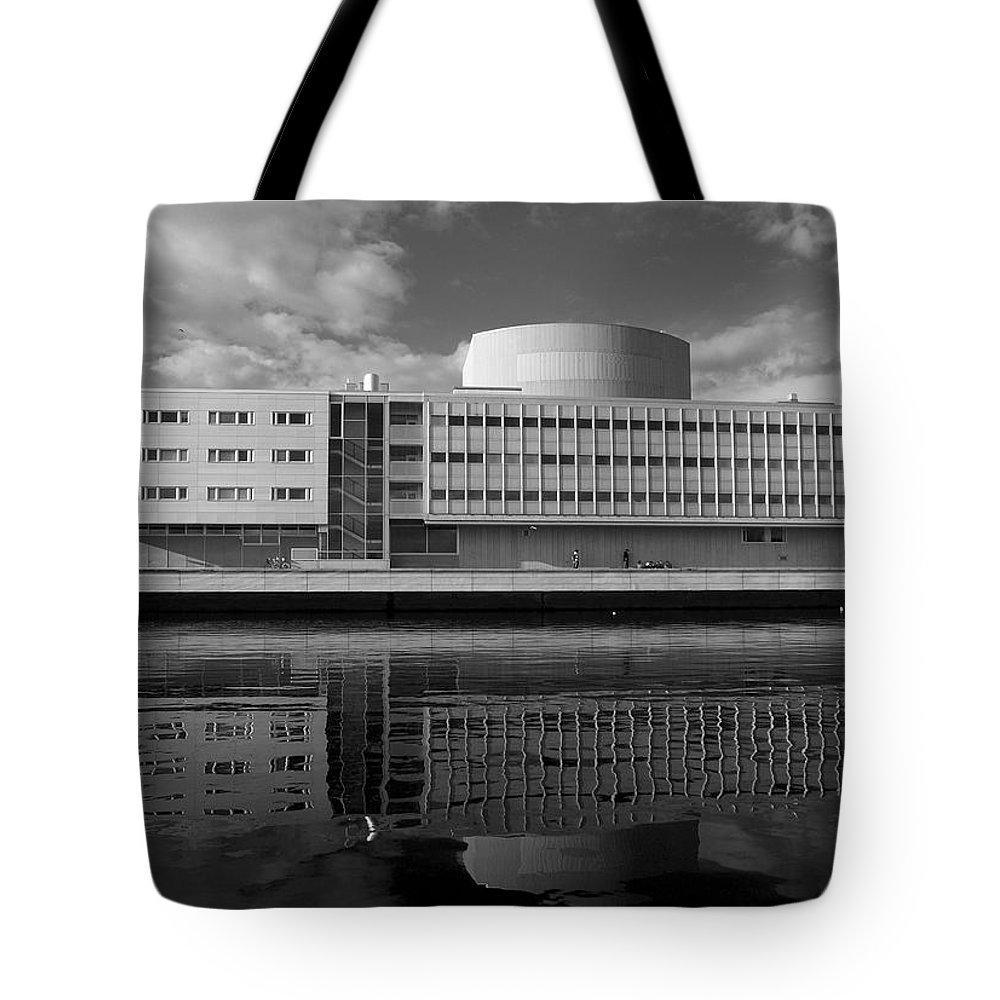 Lehtokukka Tote Bag featuring the photograph The Theatre Of Oulu 3 by Jouko Lehto