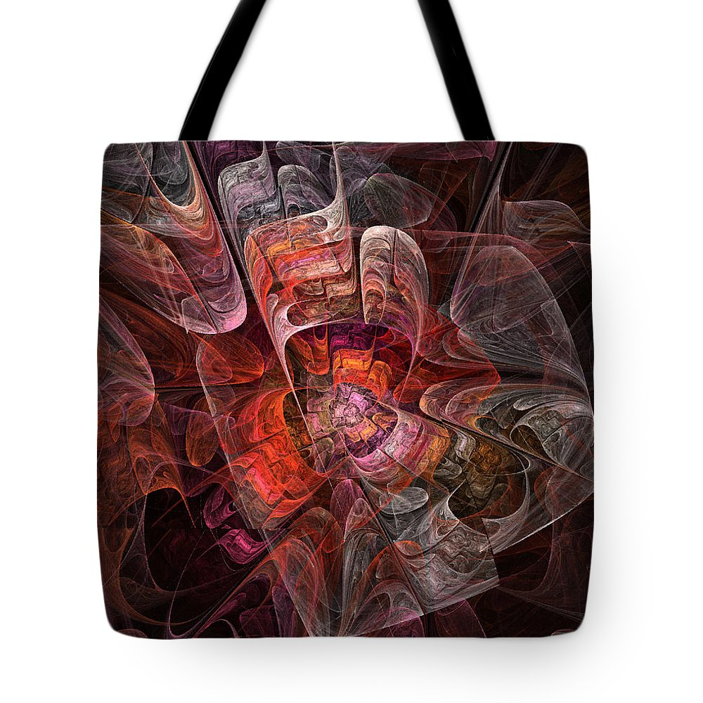 Abstract Tote Bag featuring the digital art The Third Voice - Fractal Art by NirvanaBlues
