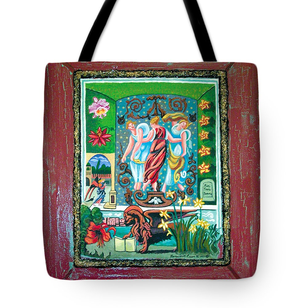 Women Tote Bag featuring the painting The Three Sisters by Genevieve Esson