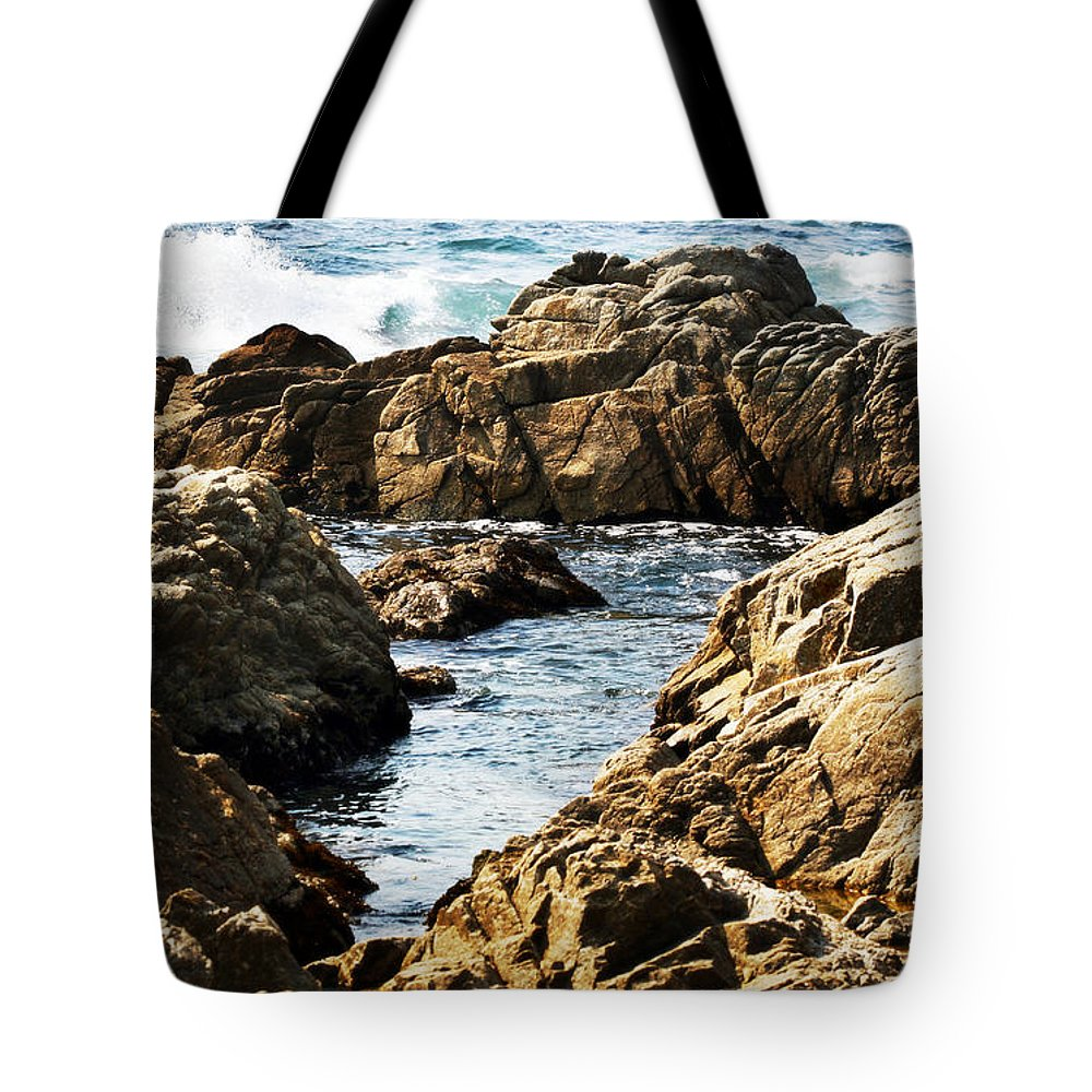 Tide Tote Bag featuring the photograph The Tide Rushes In by Marilyn Hunt