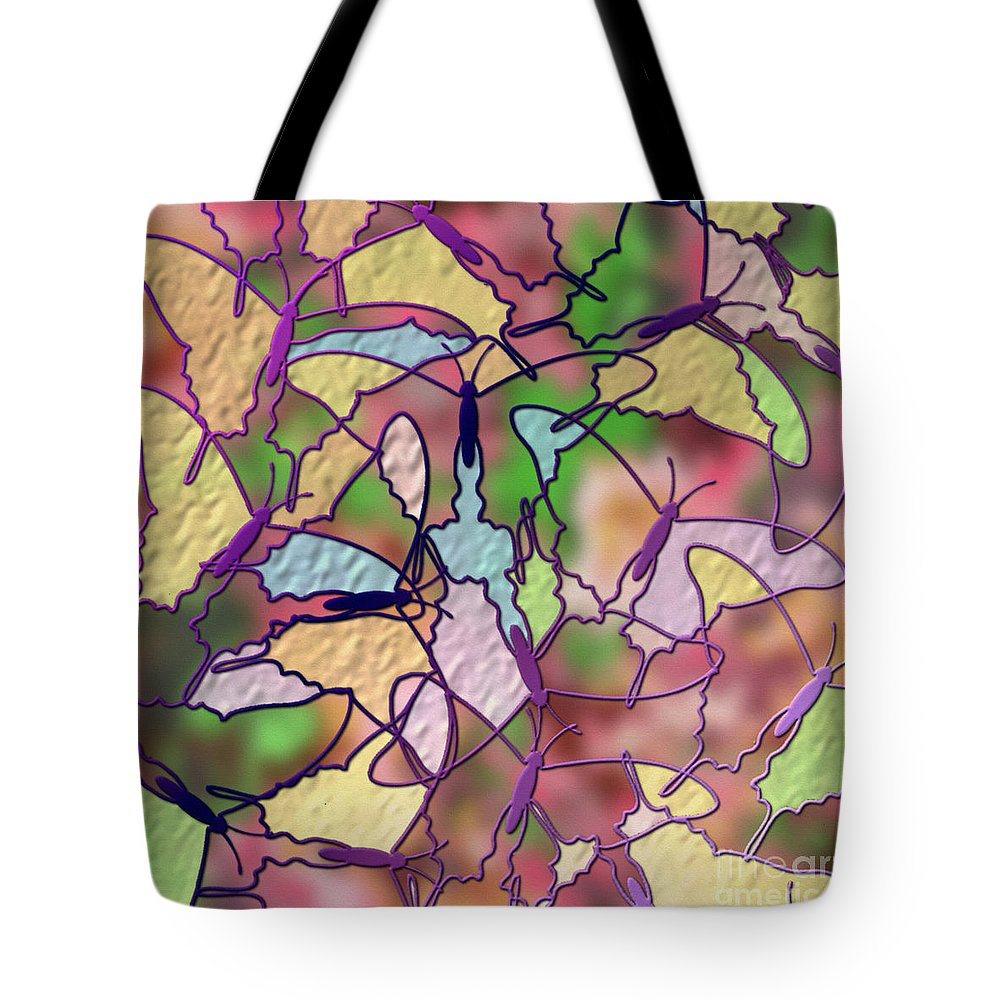 Butterfly Tote Bag featuring the digital art The Time Of Our Lives by Ruta Naujokiene