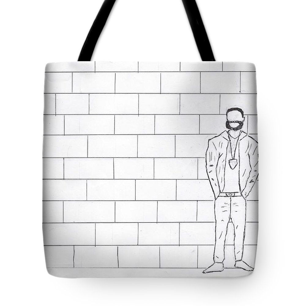 Art Tote Bag featuring the drawing The Topic by Jacho T
