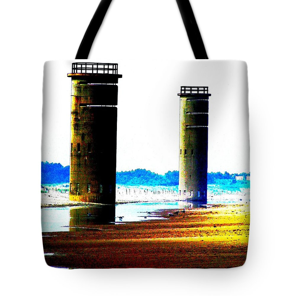 Rehoboth Beach Tote Bag featuring the photograph The Towers After A Storm by Jeffrey Todd Moore