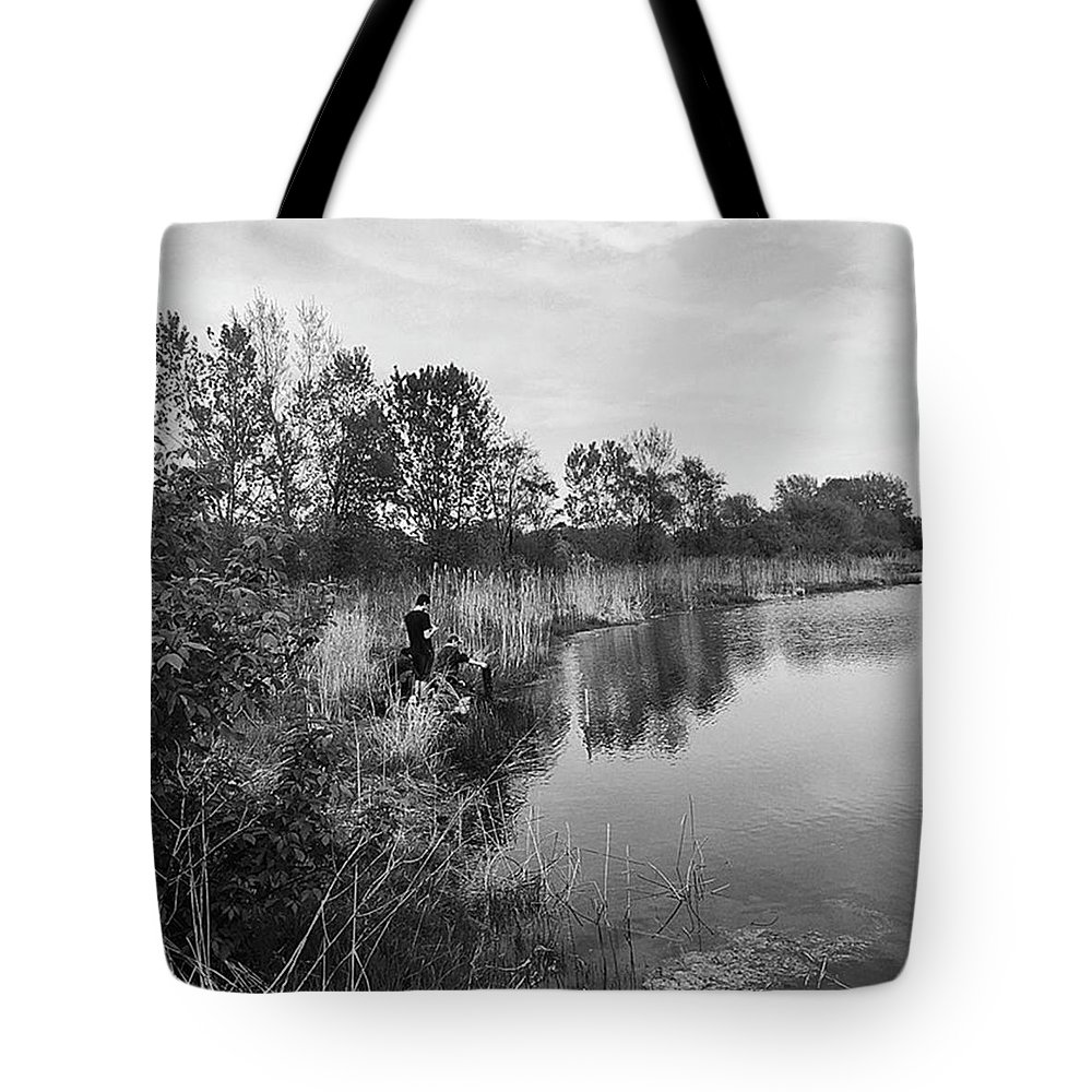 Water Tote Bag featuring the photograph Moving the Water by Frank J Casella
