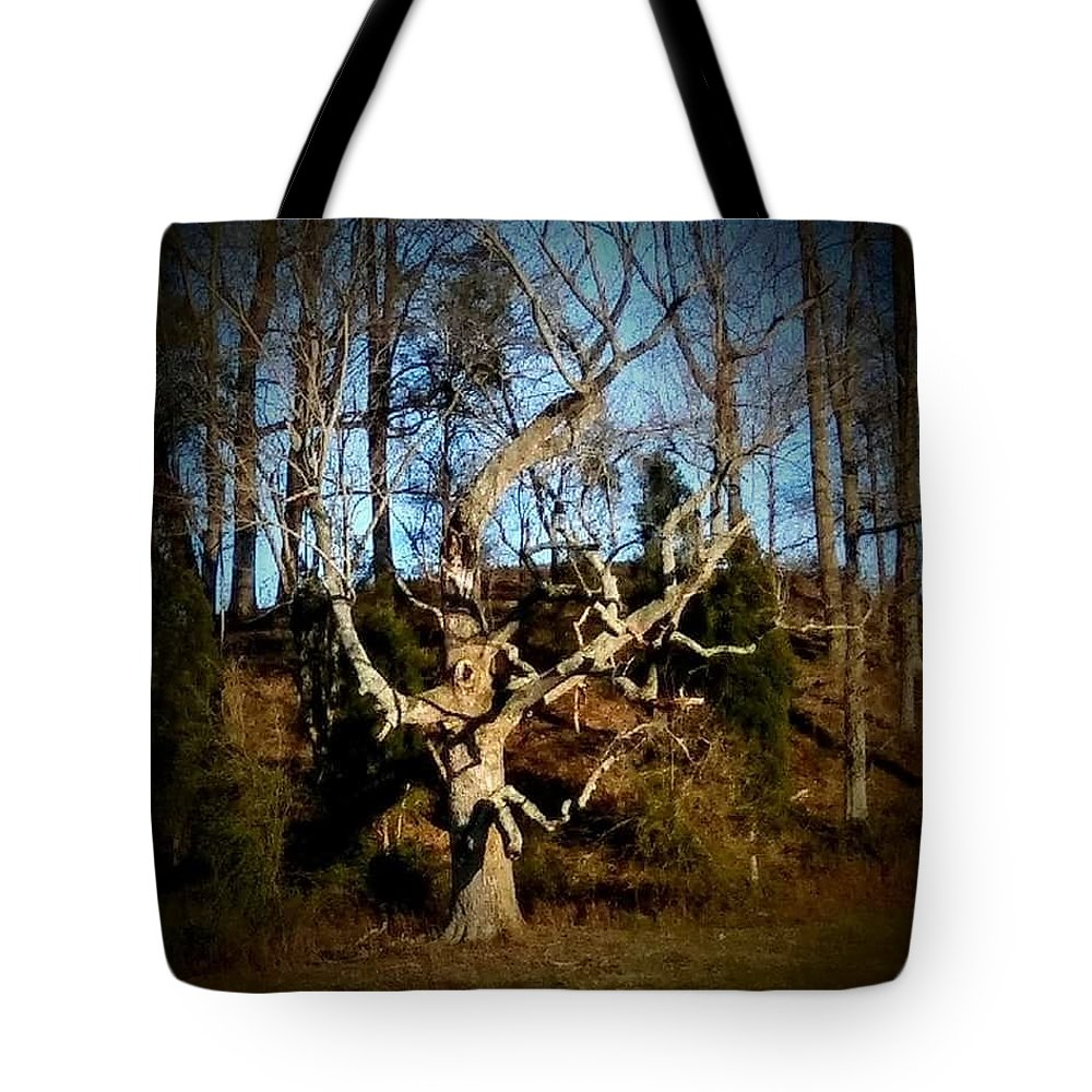 Tree Tote Bag featuring the photograph The Tree by Jessica Peterson