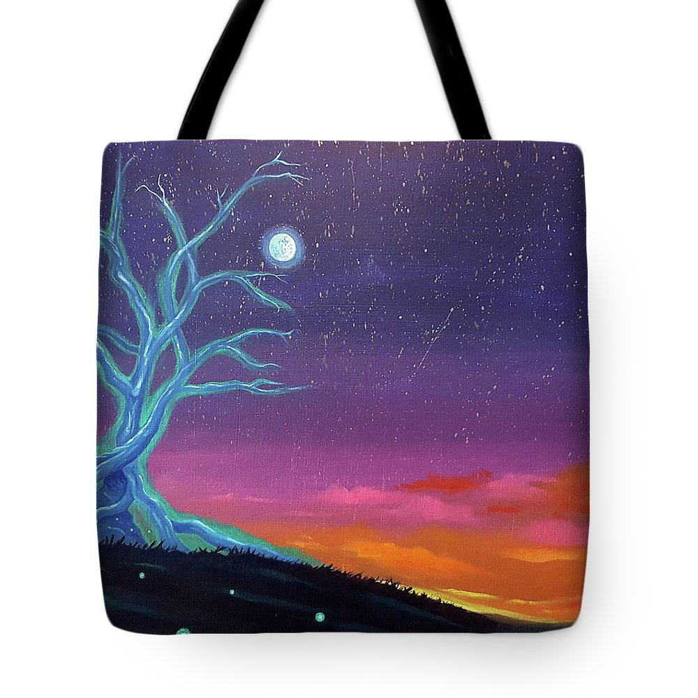 Jj Tote Bag featuring the painting The Tree Of Energy by JJ Long