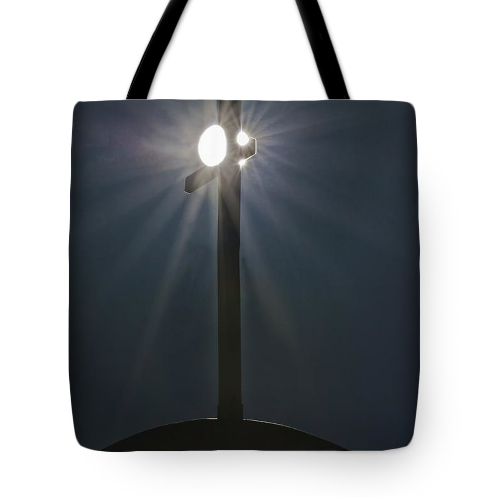 The Tote Bag featuring the photograph The Trinity by David Kehrli