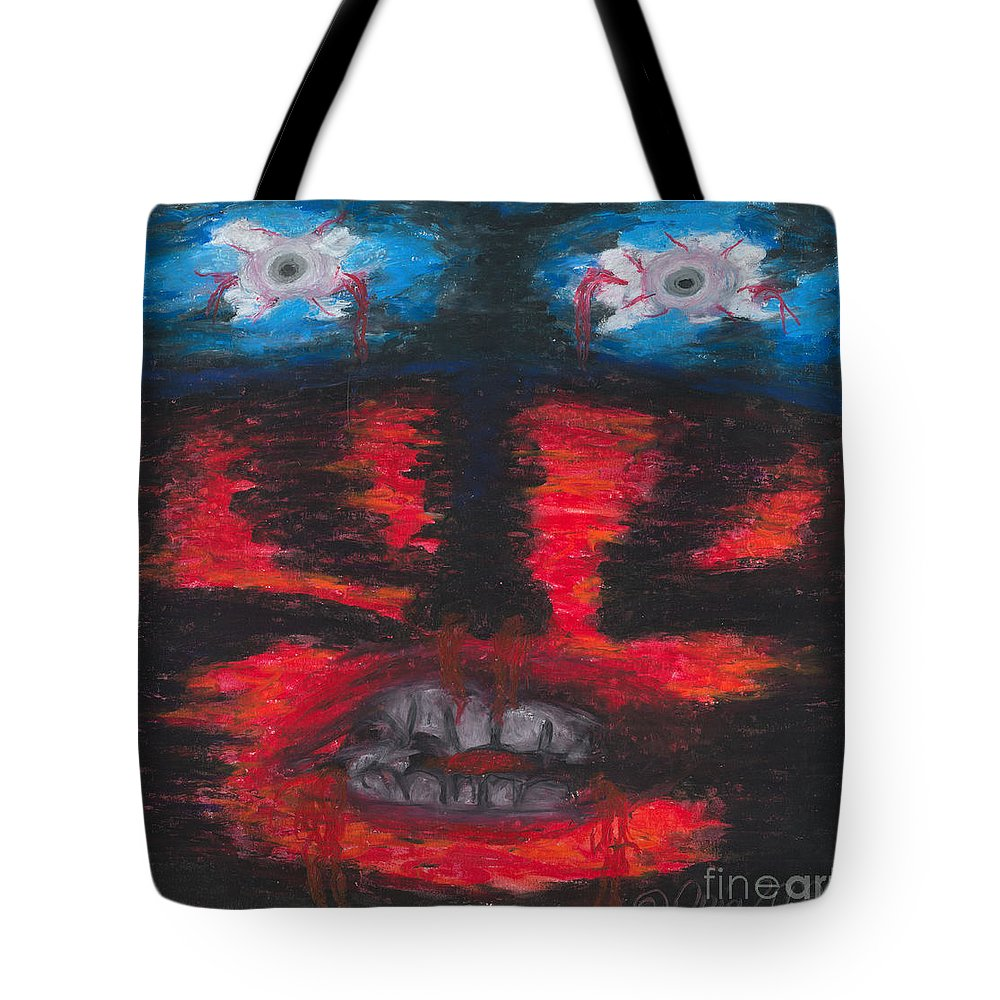 Face Tote Bag featuring the painting The Truth by Ania M Milo