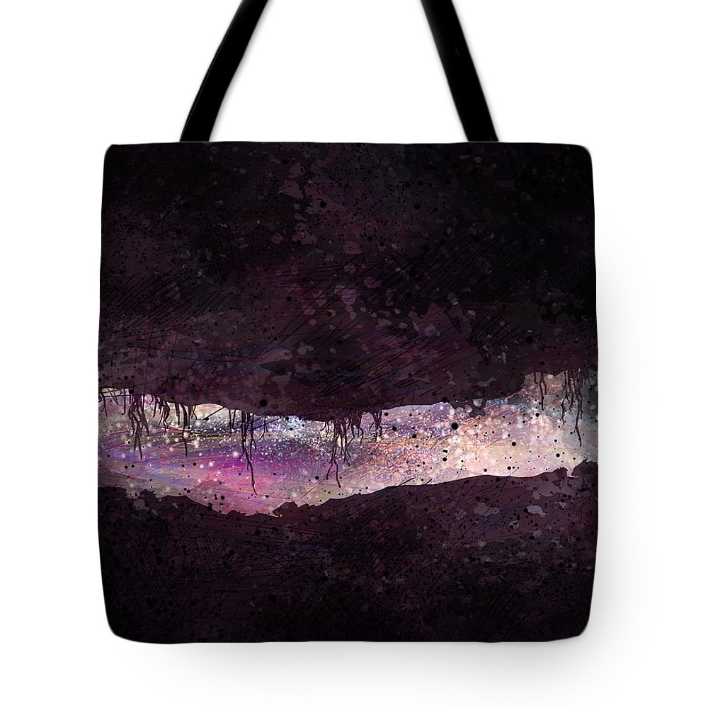 Tunnel Tote Bag featuring the digital art The Tunnel by William Russell Nowicki