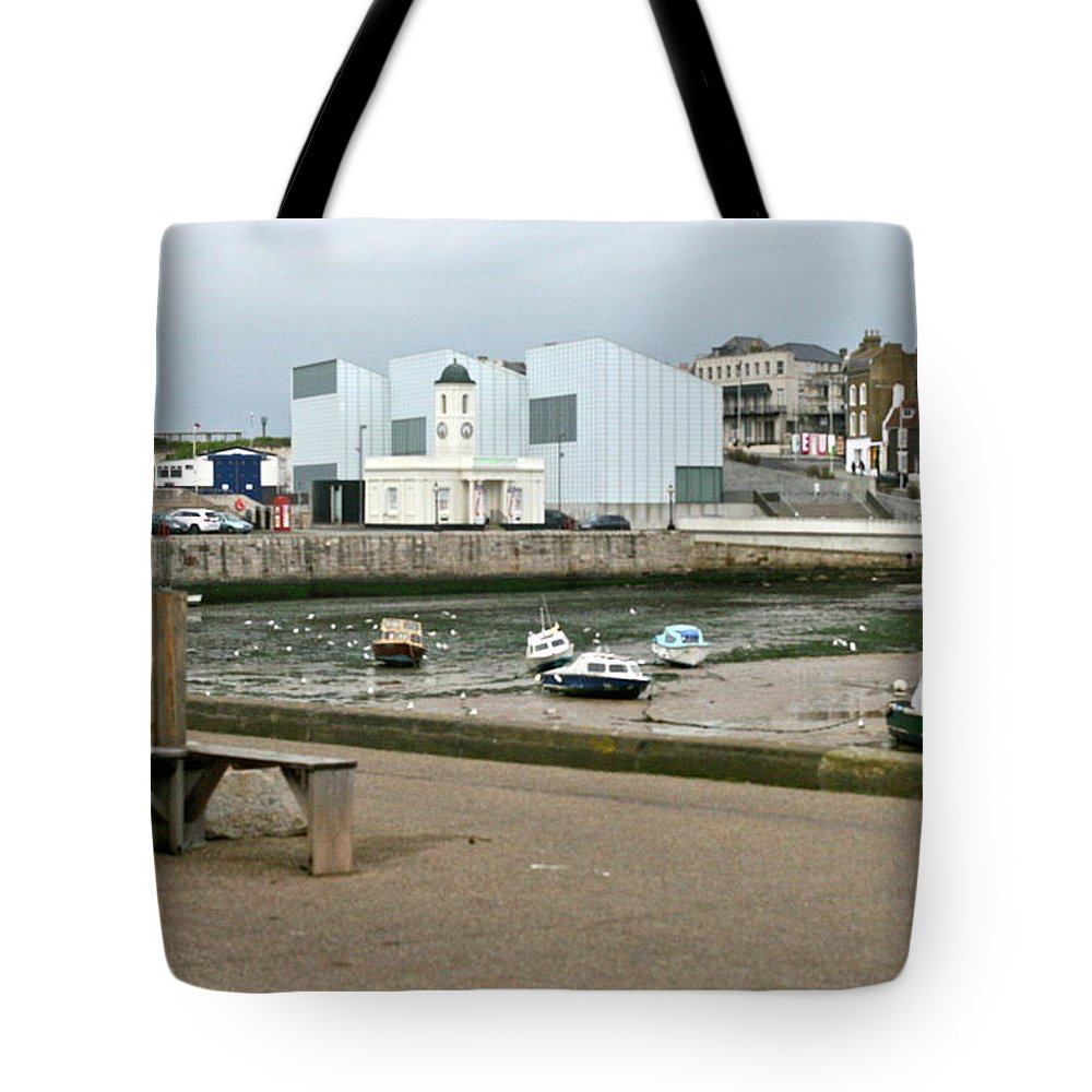 Turner Contemporary Gallery Tote Bag featuring the photograph The Turner Contemporary Gallery - Margate Harbour by Steve Swindells