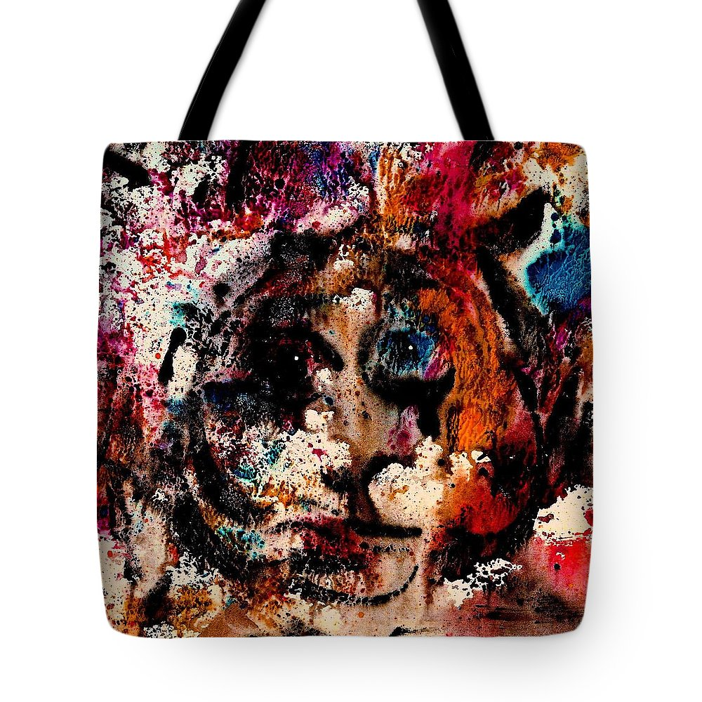 Twilight Zone Tote Bag featuring the painting The Twilight Zone by Natalie Holland