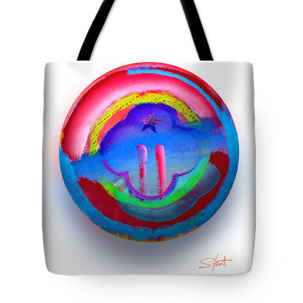 9/11 Tote Bag featuring the painting The Two Towers by Charles Stuart