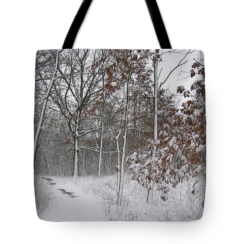 Landscape Tote Bag featuring the photograph The Unbeaten Path by Dylan Punke