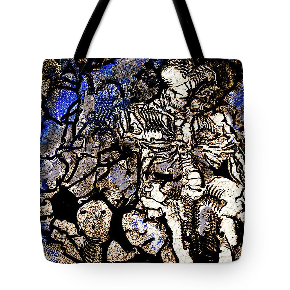Natalie Holland Art Tote Bag featuring the painting The Underworld by Natalie Holland
