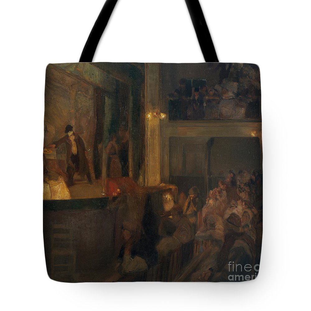 Ricard Urgell Tote Bag featuring the painting The Unfaithful Wife Or The Charcoal by MotionAge Designs