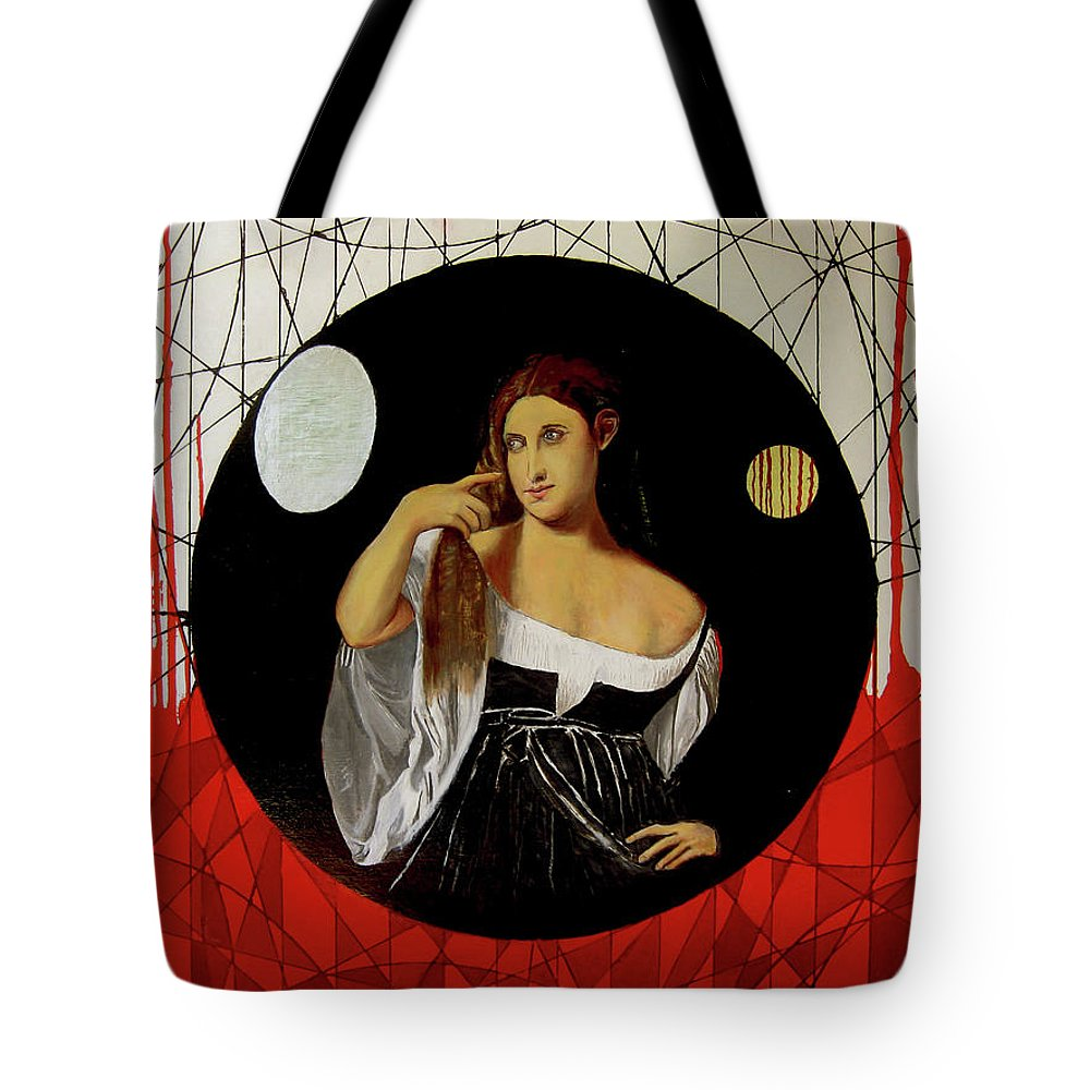 Philosophy Tote Bag featuring the painting The Unity Of Reason by James Gallagher
