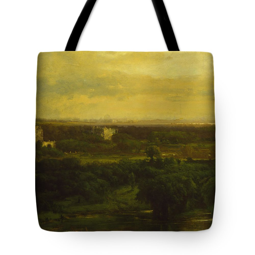 George Inness Tote Bag featuring the painting The Valley Of The Olives by George Inness