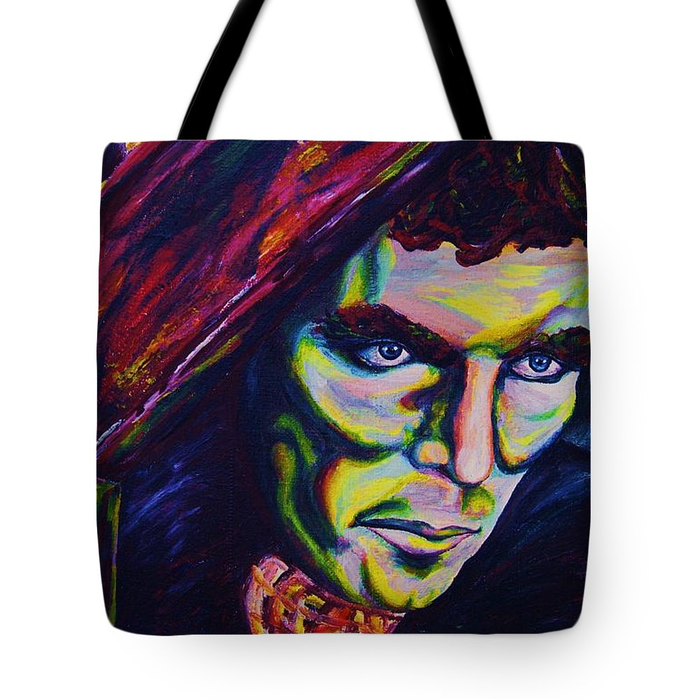 Portraits Tote Bag featuring the painting The Vampire Lestat by Carole Spandau