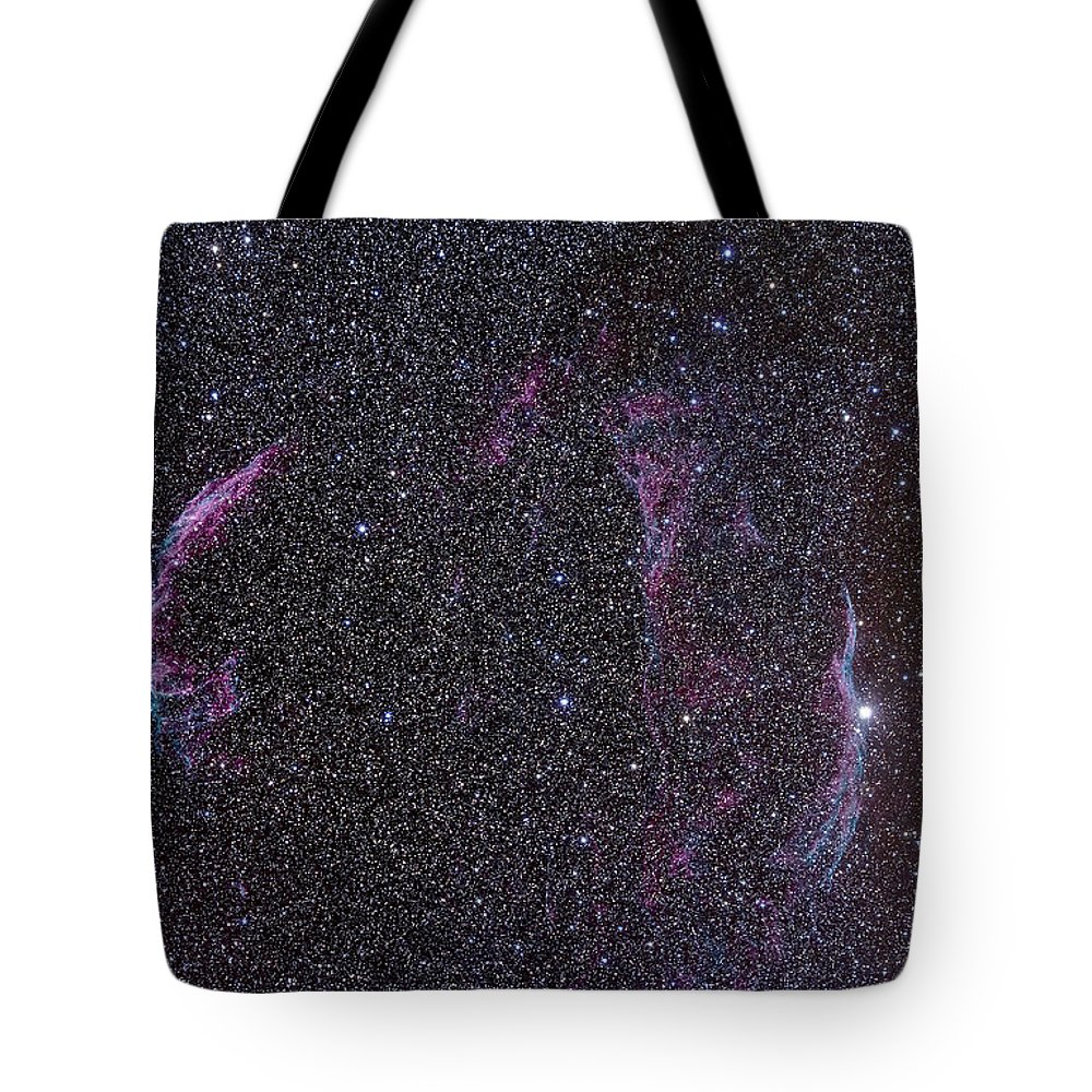 52 Cygni Tote Bag featuring the photograph The Veil Nebula by Alan Dyer