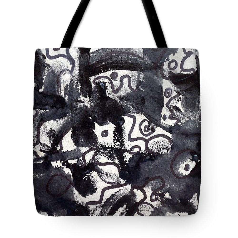 Art Trendsetting Universal Tote Bag featuring the painting The Veritable Aspects Of Uli Arts #222 by Mbonu Emerem