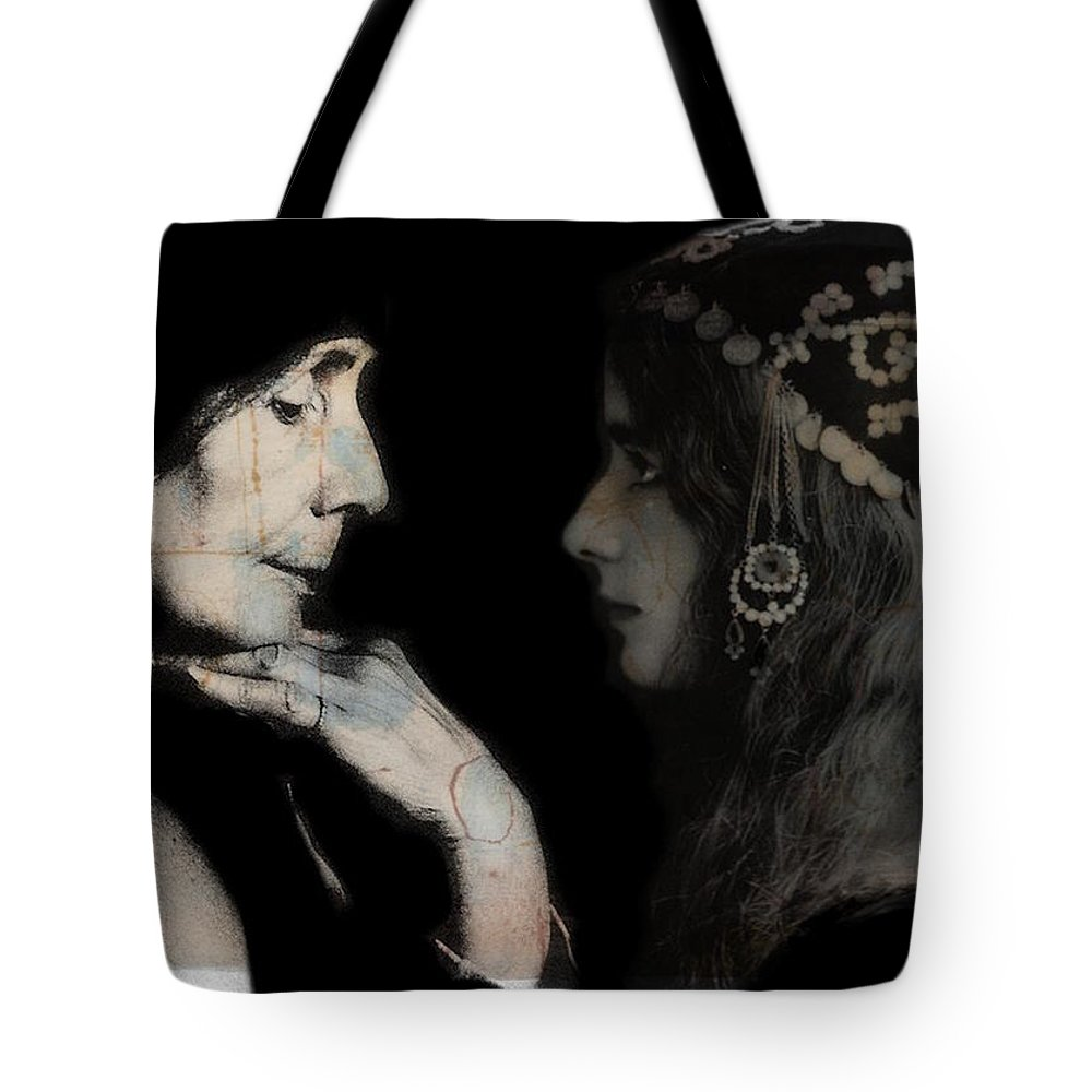 Cleo De Meroder Tote Bag featuring the mixed media The Very Thought Of You by Paul Lovering