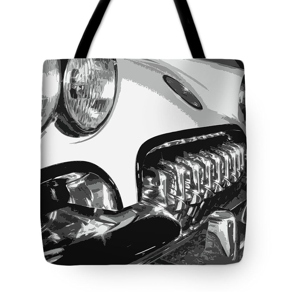 Corvette Tote Bag featuring the photograph The Vette That Growled by Dick Goodman