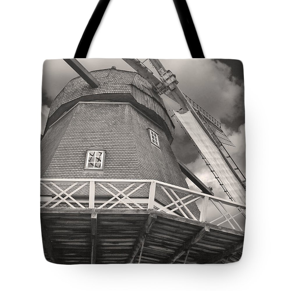 Windmill Tote Bag featuring the photograph The Viby Windmill by Robert Lacy