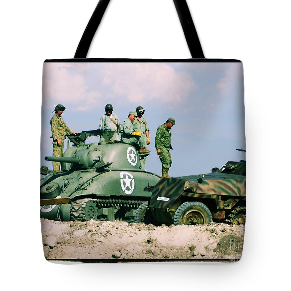 M-4 Sherman Tote Bag featuring the photograph The Victors by Tommy Anderson