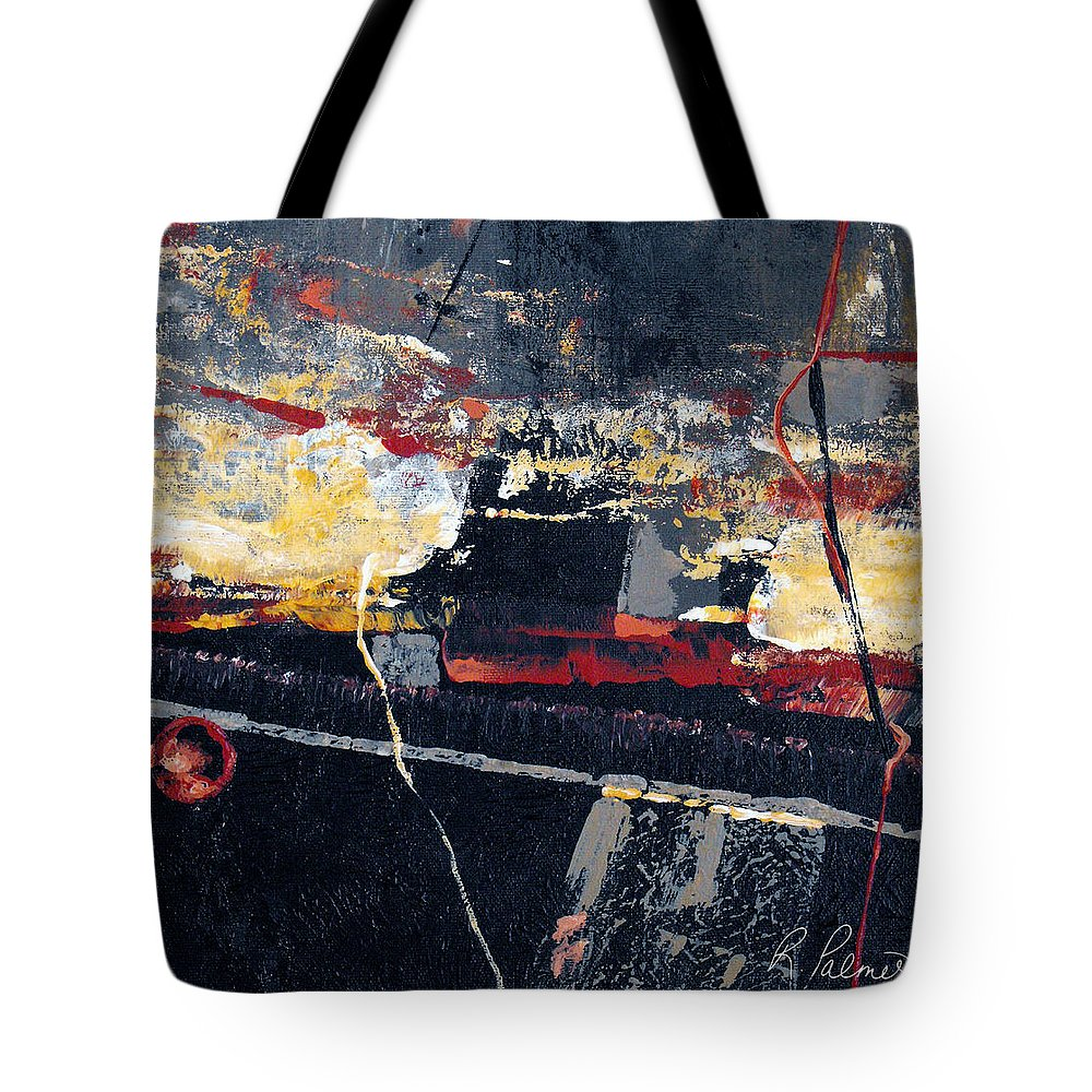 Abstract Tote Bag featuring the painting The View by Ruth Palmer