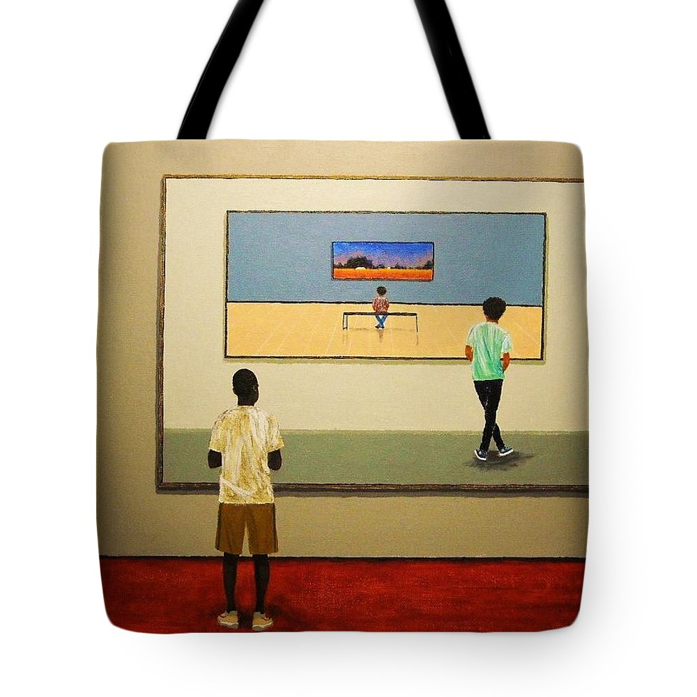 Painting Tote Bag featuring the painting The View Within by Edith Peterson
