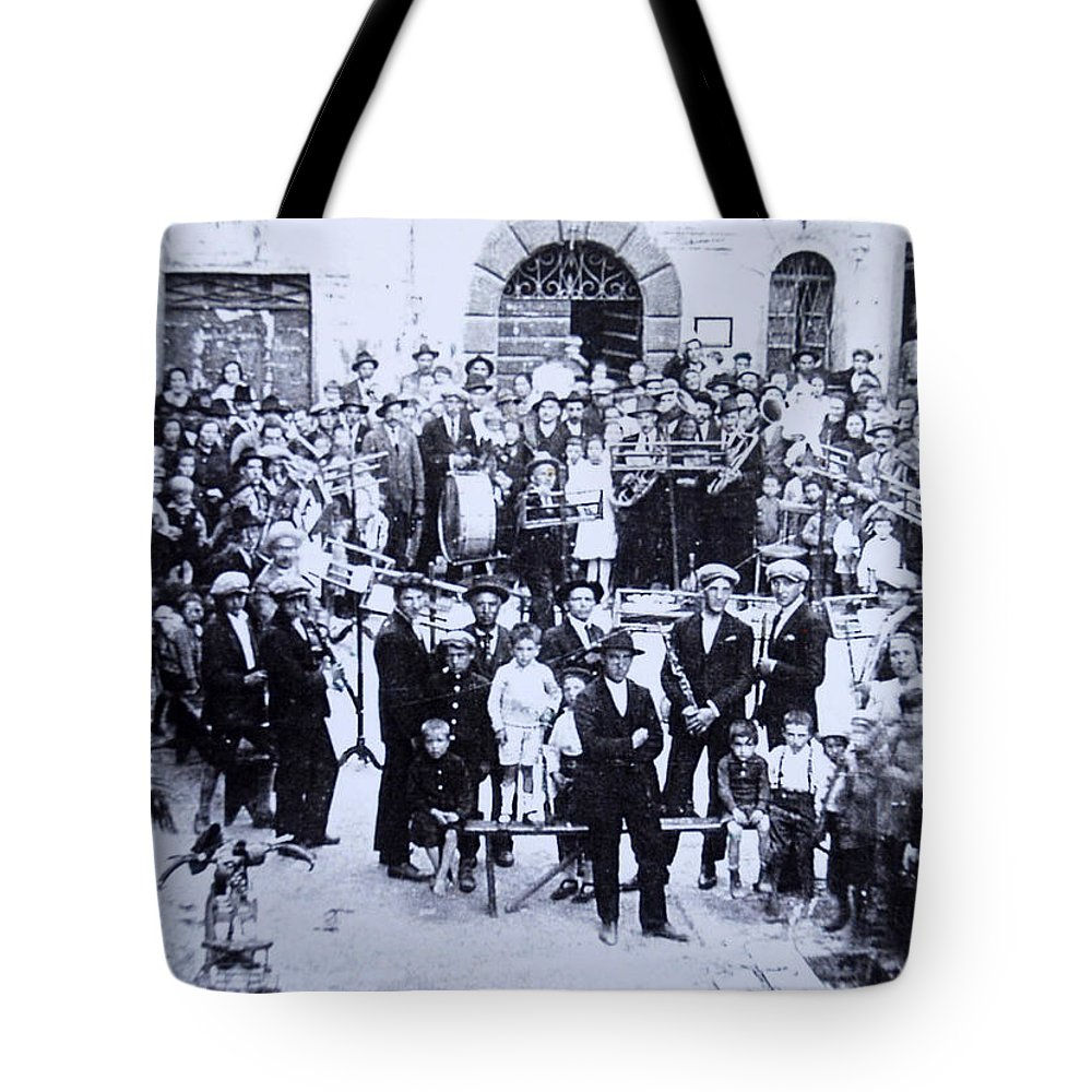 Tuscany Tote Bag featuring the photograph The Village Band by Kurt Hausmann