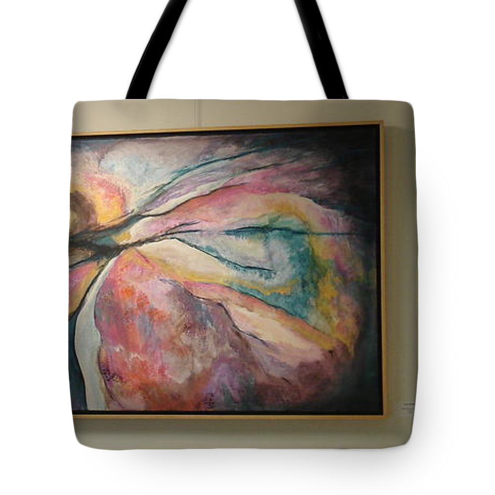 Tote Bag featuring the painting The Village Show 2015 by Susan Graham